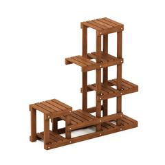 Tioman Hardwood Flower Stand in Teak Oil