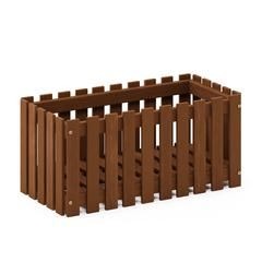 Tioman Hardwood Slat Style Flower Planter Box in Teak Oil