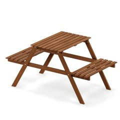 Tioman Hardwood Kids Picnic Table and Chair Set in Teak Oil