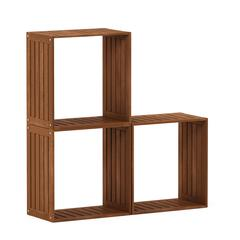 Tioman Hardwood Multipurpose Stacking Shelf in Teak Oil