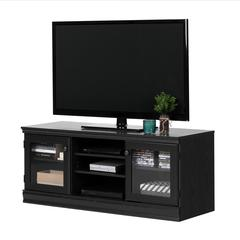 Morgan TV Stand for TVs up to 75'', Black Oak
