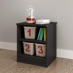 Libra Nightstand with Storage, Gray Oak