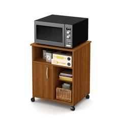 Axess Microwave Cart with Storage on Wheels, Morgan Cherry