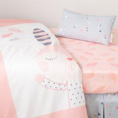 DreamIt Pink Doudou the rabbit 3-Piece Baby Crib Bed Set and Pillow