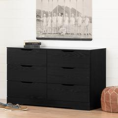 Holland 6-Drawer Double Dresser, Black Oak