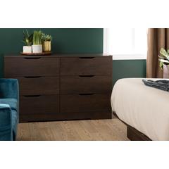 Holland 6-Drawer Double Dresser, Brown Oak