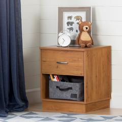 South Shore Logik 1-Drawer Nightstand, Country Pine