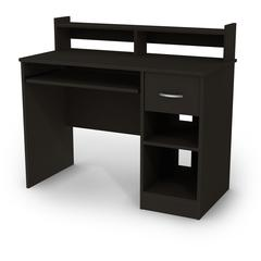 South Shore Axess Desk with Keyboard Tray, Pure Black