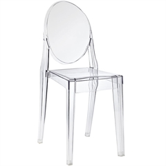Ghost dining Dining Side Chair Clear, set of 4