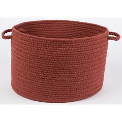 "Rhody Rug WearEver Terra Cotta Poly 18"" x 12"" Basket"