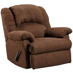 Exceptional Designs by Flash Aruba Chocolate Microfiber Rocker Recliner