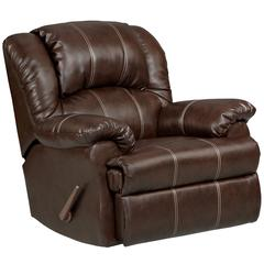 Flash Furniture Exceptional Designs by Flash Brandon Brown Leather Rocker Recliner