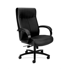 basyx by HON HVL685 Big and Tall Executive Chair   Center-Tilt, Tension, Lock   Black SofThread Leather
