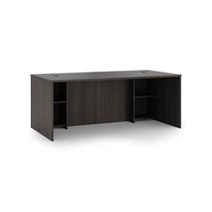 "basyx by HON BL Series Breakfront Desk Shell   72""W x 36""D x 29""H   Espresso Finish"