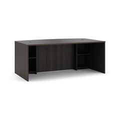 """basyx by HON BL Series Breakfront Desk Shell   Bow Front   72""""W x 42""""D x 29""""H   Espresso Finish"""