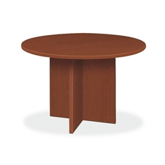 "basyx by HON BL Series Conference Table | Round | Flat Edge Profile | X-Base | 48"" Diameter 