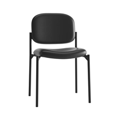basyx by HON HVL606 Stacking Guest Chair | Black SofThread Leather