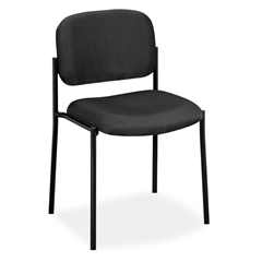 basyx by HON HVL606 Stacking Guest Chair | Charcoal Fabric