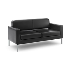 basyx by HON HVL888 Sofa | Black SofThread Leather