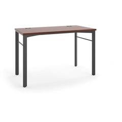 "basyx by HON Manage Table Desk | 48""W x 24""D | Chestnut Laminate | Ash Finish"