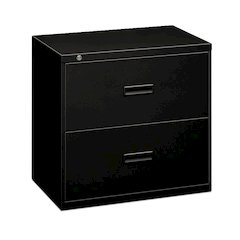 """basyx by HON Lateral File   2 Drawers   Molded Pull   30""""W x 19-1/4""""D x 28-3/8""""H   Black Finish"""