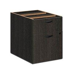 """basyx by HON BL Series Pedestal File   1 Box / 1 File Drawer   15-5/8""""W x 21-3/4""""D x 19-3/4""""H   Espresso Finish"""