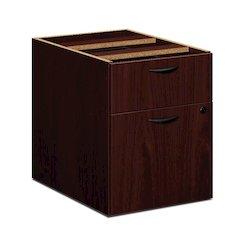 "basyx by HON BL Series Pedestal File   1 Box / 1 File Drawer   15-5/8""W x 21-3/4""D x 19-3/4""H   Mahogany Finish"
