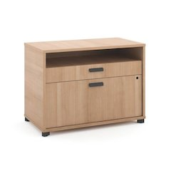 "basyx by HON Manage File Center | 1 Open Shelf / 1 Pencil Drawer / 1 Lateral Drawer | 30""W x 16""D x 22""H 