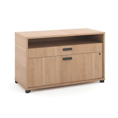 "basyx by HON Manage File Center | 1 Open Shelf / 1 Pencil Drawer / 1 Lateral Drawer | 36""W x 16""D x 22""H 