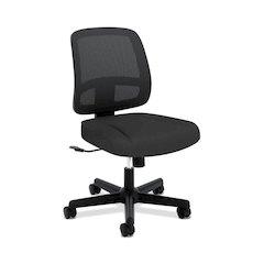 basyx by HON HVL205 Mesh Back Task Chair | Center-Tilt | Black Mesh