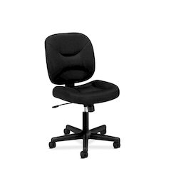 basyx by HON HVL210 Low-Back Task Chair | Center-Tilt, Tension, Lock | Black Sandwich Mesh