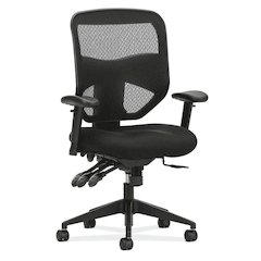 HVL532 Mesh High-Back Task Chair | Asynchronous Control, Seat Glide | 2-Way Arms | Black Mesh
