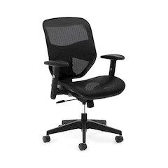 basyx by HON HVL534 Mesh High-Back Task Chair | Center-Tilt, Tension, Lock | Adjustable Arms | Black Mesh