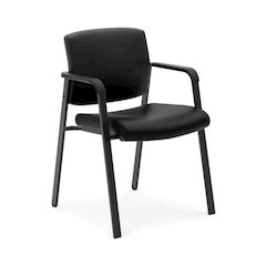 basyx by HON HVL605 Executive Guest Chair | Black SofThread Leather