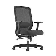 HVL721 Mesh High-Back Task Chair | Synchro-Tilt, Lumbar, Seat Glide | 2-Way Arms | Black Fabric