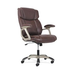 High-Back Executive Chair | Brown Leather