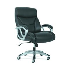 Sadie Big and Tall Leather Executive Chair, High-Back Computer/Office Chair, Black (HVST341)