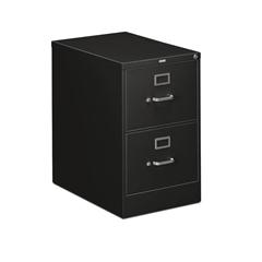 "310 Series Vertical File | 2 Drawers | Legal Width | 18-1/4""W x 26-1/2""D x 29""H | Black Finish"