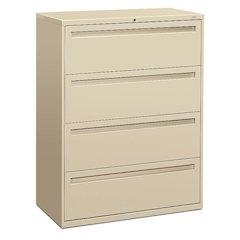 "HON Brigade 700 Series Lateral File | 4 Drawers | Full Integral Pull | 42""W x 19-1/4""D x 53-1/4""H 