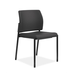 HON Accommodate Guest Chair | Armless | Casters and Glides | Black Fabric | Textured Black Frame