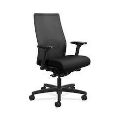 Ignition ilira-Stretch Mesh Back Task Chair | Advanced Synchro-Tilt  | Height- and Width-Adjustable Arms | Adjustable Lumbar Support