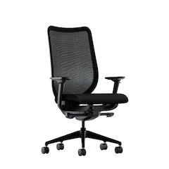 HON Nucleus Task Chair | Black ilira-Stretch Back | Synchro-Tilt, Tension, Multi-Position Lock, Seat Glide | Adjustable Arms | Black Fabric