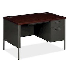 "Metro Classic Compact Right Pedestal Desk | 1 Box / 1 File Drawer | 48""W x 30""D x 29-1/2""H 
