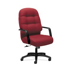 HON Pillow-Soft Executive High-Back Chair | Center-Tilt, Tension, Lock | Fixed Arms | Marsala Fabric
