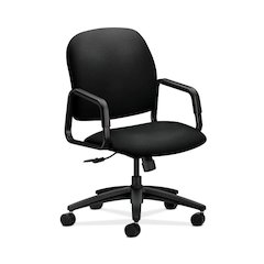 HON Solutions Seating High-Back Chair | Center-Tilt, Tension, Lock | Fixed Arms | Black Fabric