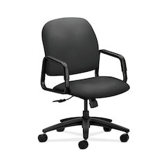 HON Solutions Seating High-Back Chair | Center-Tilt, Tension, Lock | Fixed Arms | Iron Ore Fabric