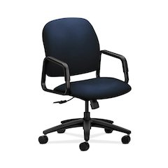 HON Solutions Seating High-Back Chair | Center-Tilt, Tension, Lock | Fixed Arms | Navy Fabric