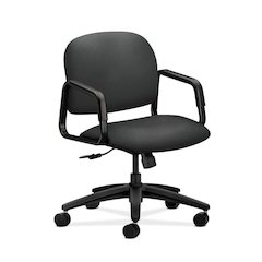 HON Solutions Seating Mid-Back Chair | Center-Tilt, Tension, Lock | Fixed Arms | Iron Ore Fabric