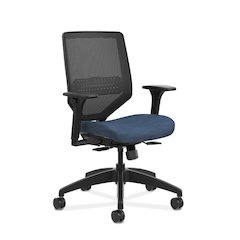 HON Solve Mid Back Task Chair | Mesh Back | Midnight Fabric
