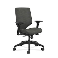 HON Solve Mid Back Task Chair | Upholstered Back | Ink Fabric